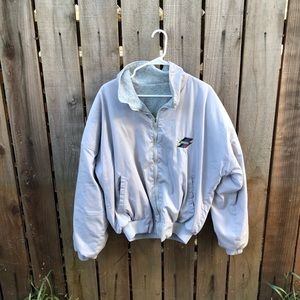Vintage Men's Skoal Zip up Jacket